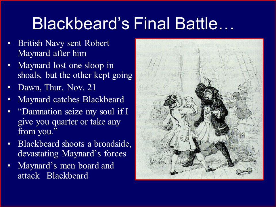 Blackbeard's Final Battle…