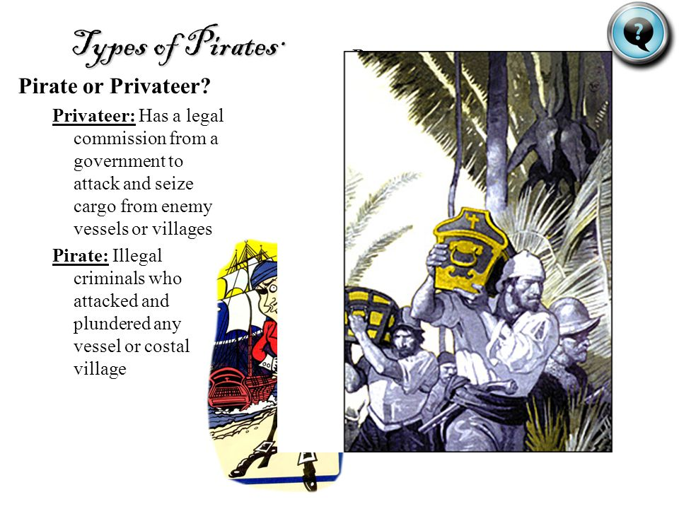 Types of Pirates: Pirate or Privateer Buccaneer: