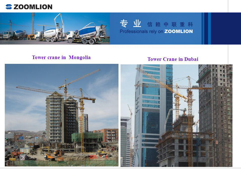 Tower crane in Mongolia
