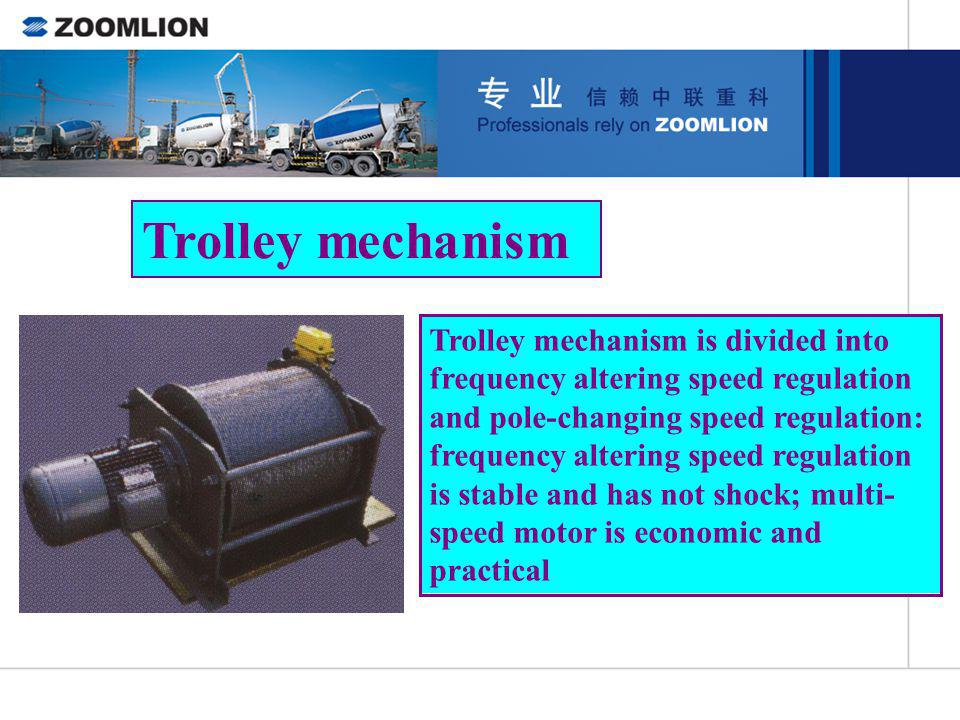 Trolley mechanism