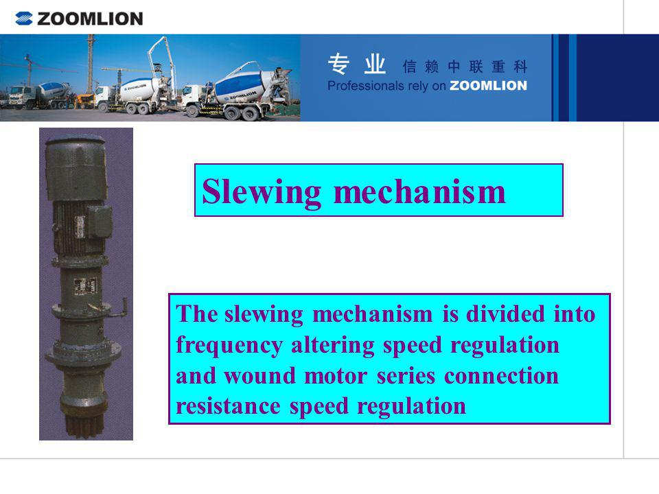 Slewing mechanism