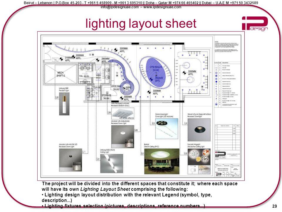 lighting layout sheet