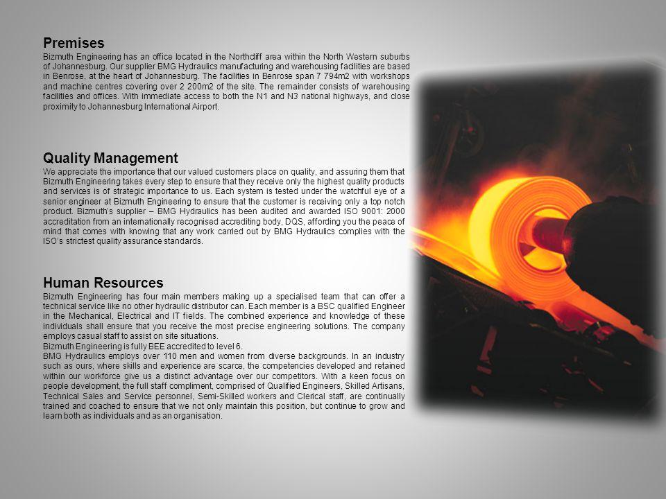 Premises Quality Management Human Resources