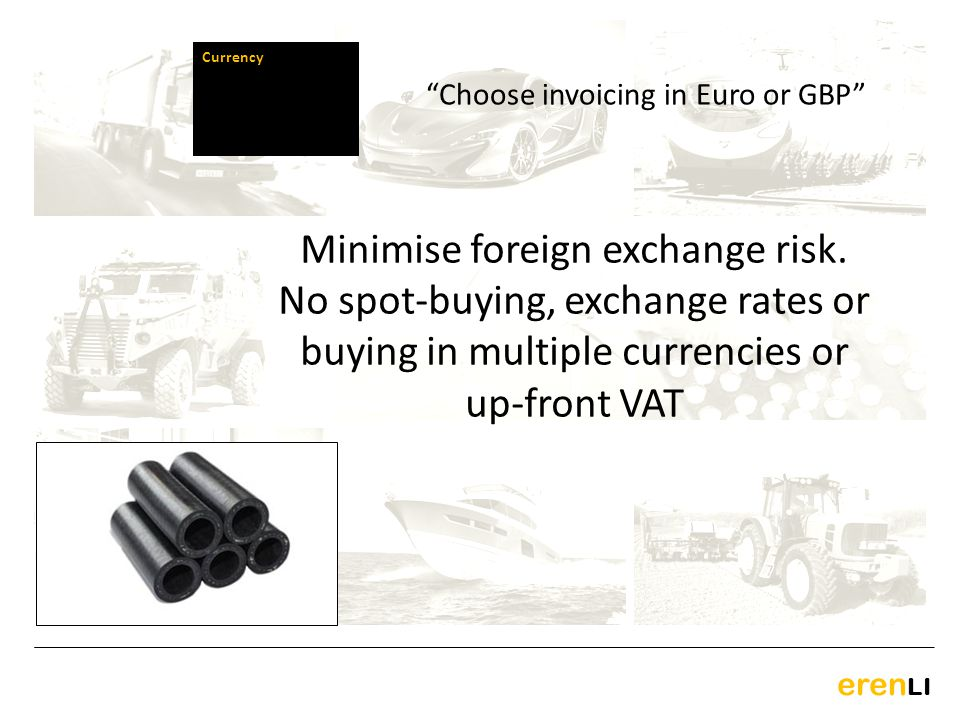 Choose invoicing in Euro or GBP