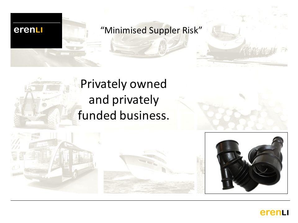 Minimised Suppler Risk