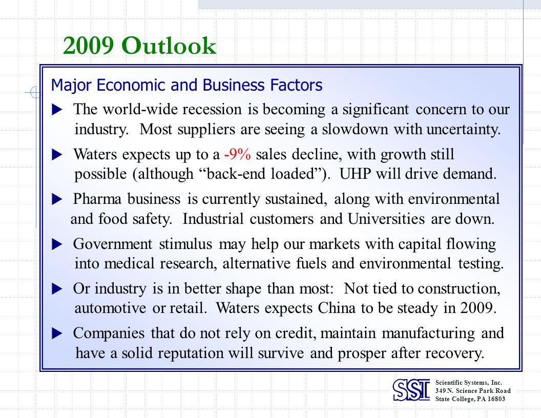 2009 Outlook Major Economic and Business Factors