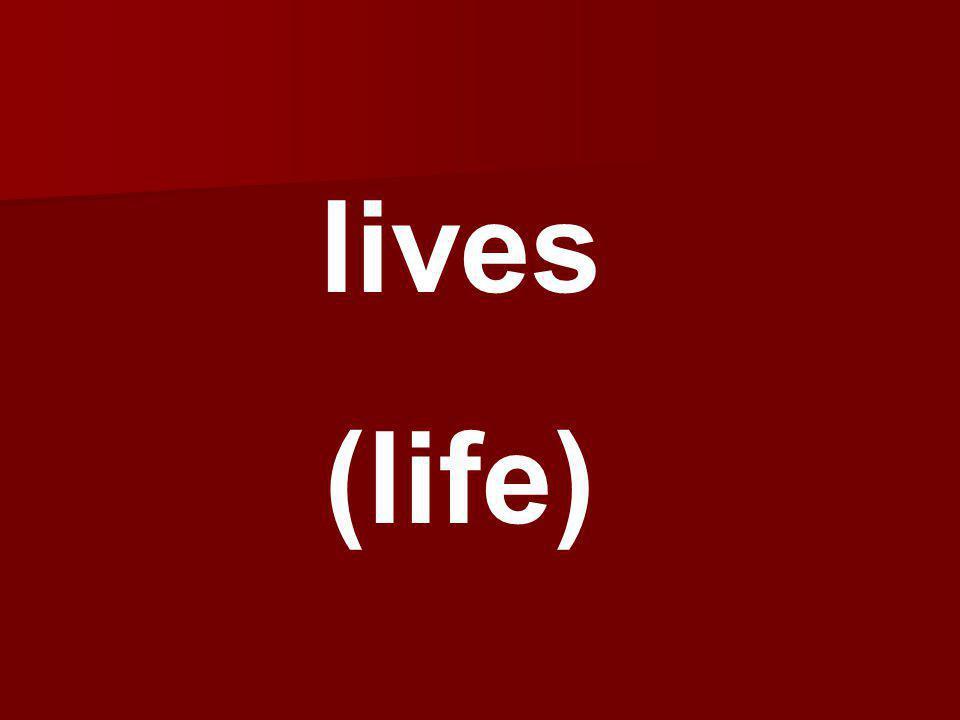 lives (life)