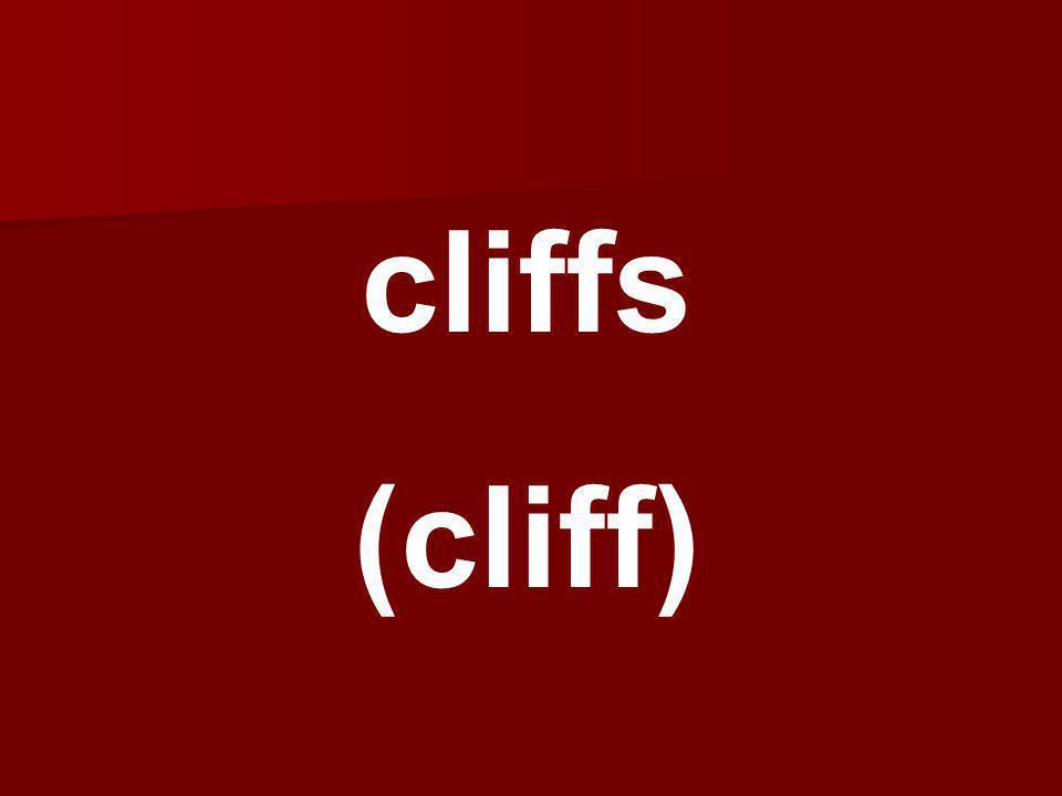 cliffs (cliff)