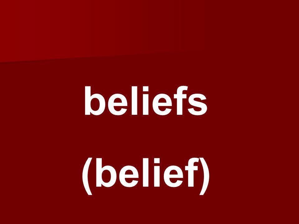 beliefs (belief)