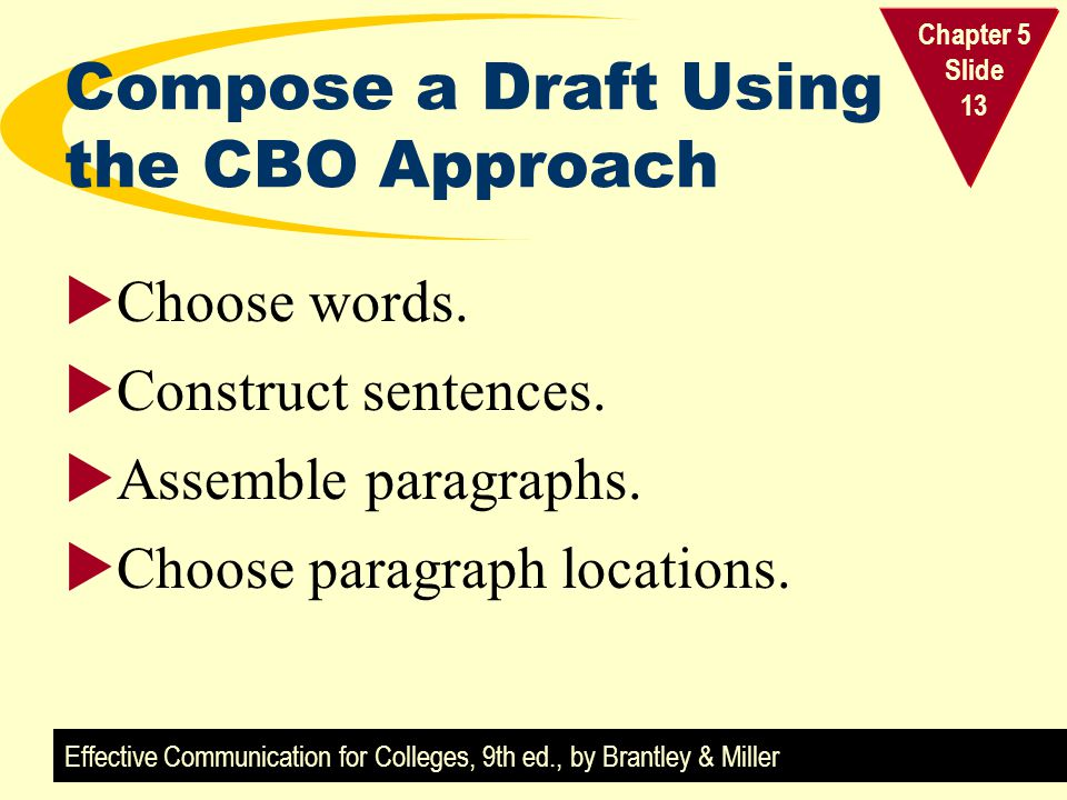 Compose a Draft Using the CBO Approach