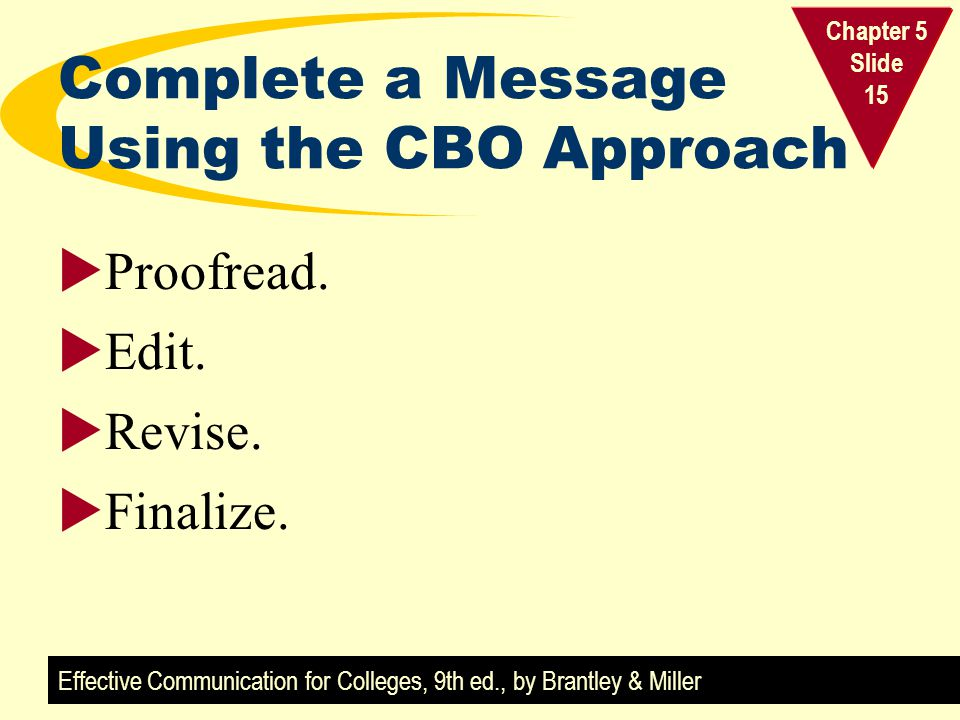 Complete a Message Using the CBO Approach