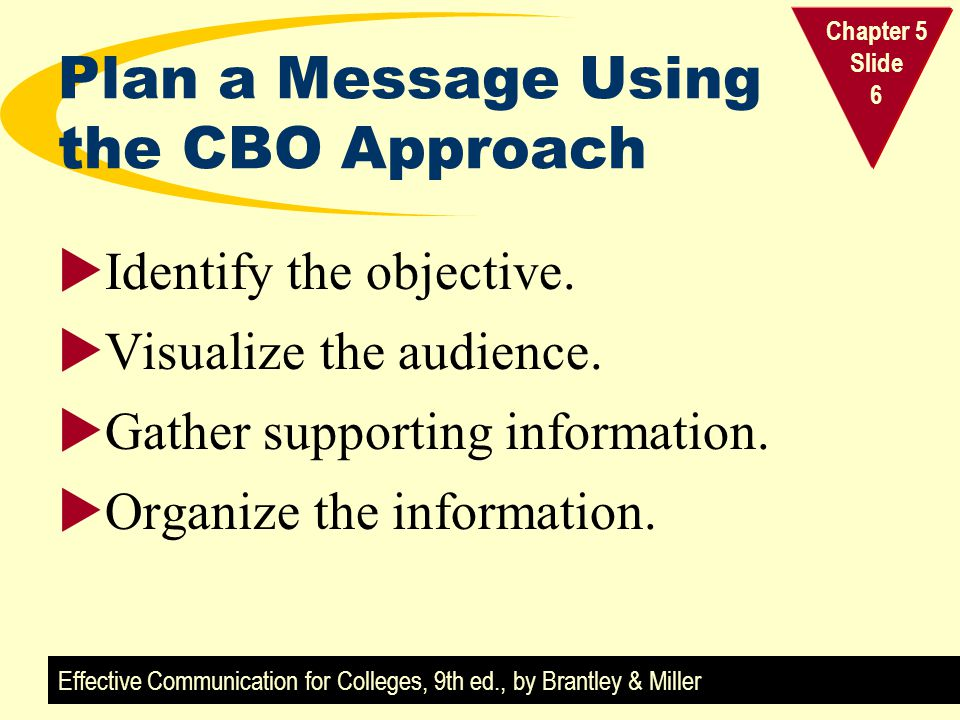 Plan a Message Using the CBO Approach