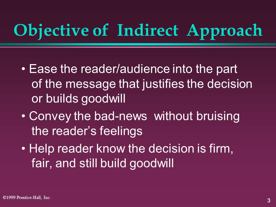 Objective of Indirect Approach