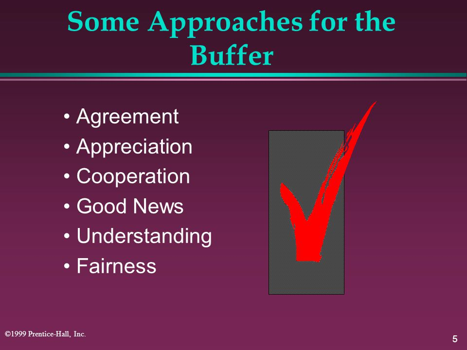Some Approaches for the Buffer