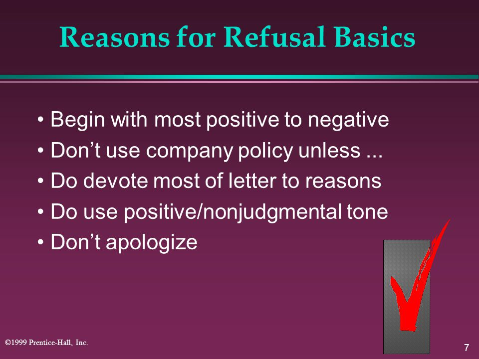 Reasons for Refusal Basics