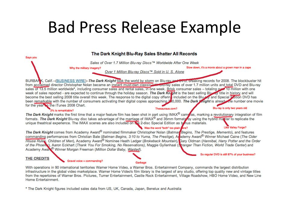 How To Write A Press Release With Examples Cbs News Mandegarfo