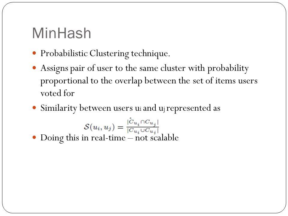 MinHash Probabilistic Clustering technique.