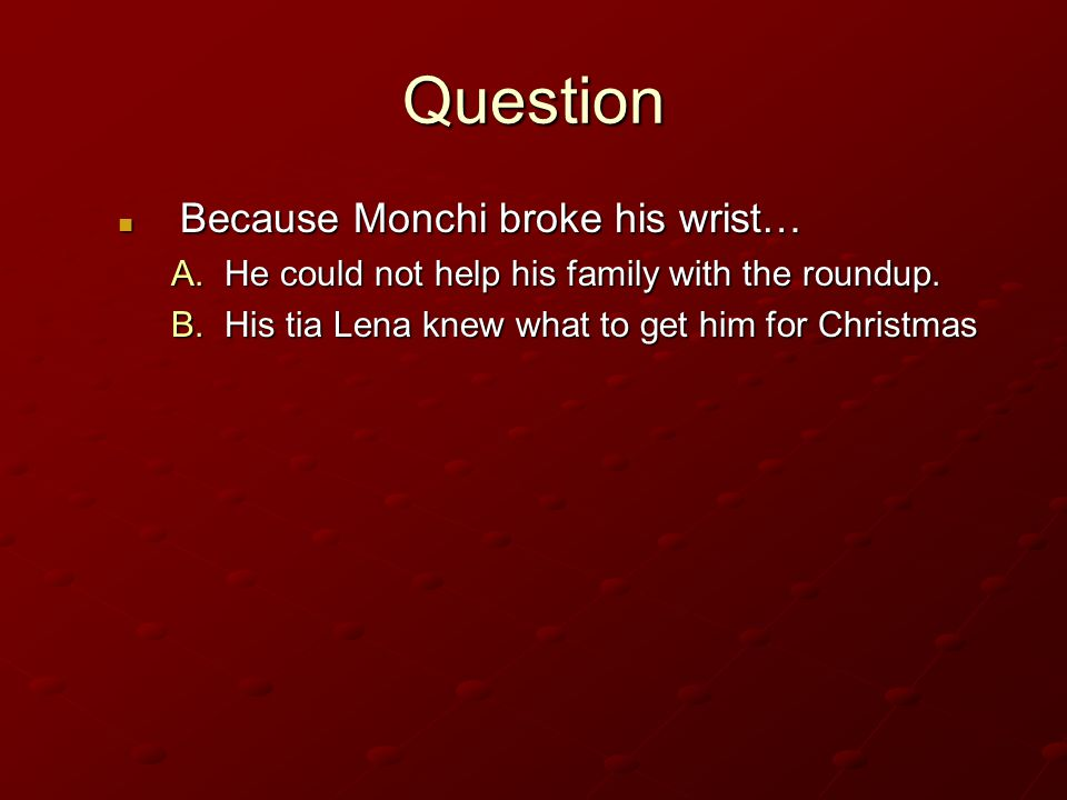 Question Because Monchi broke his wrist…