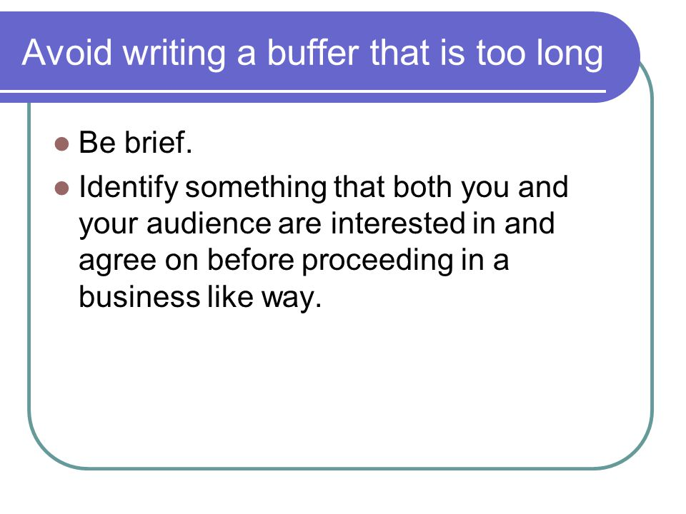 Avoid writing a buffer that is too long