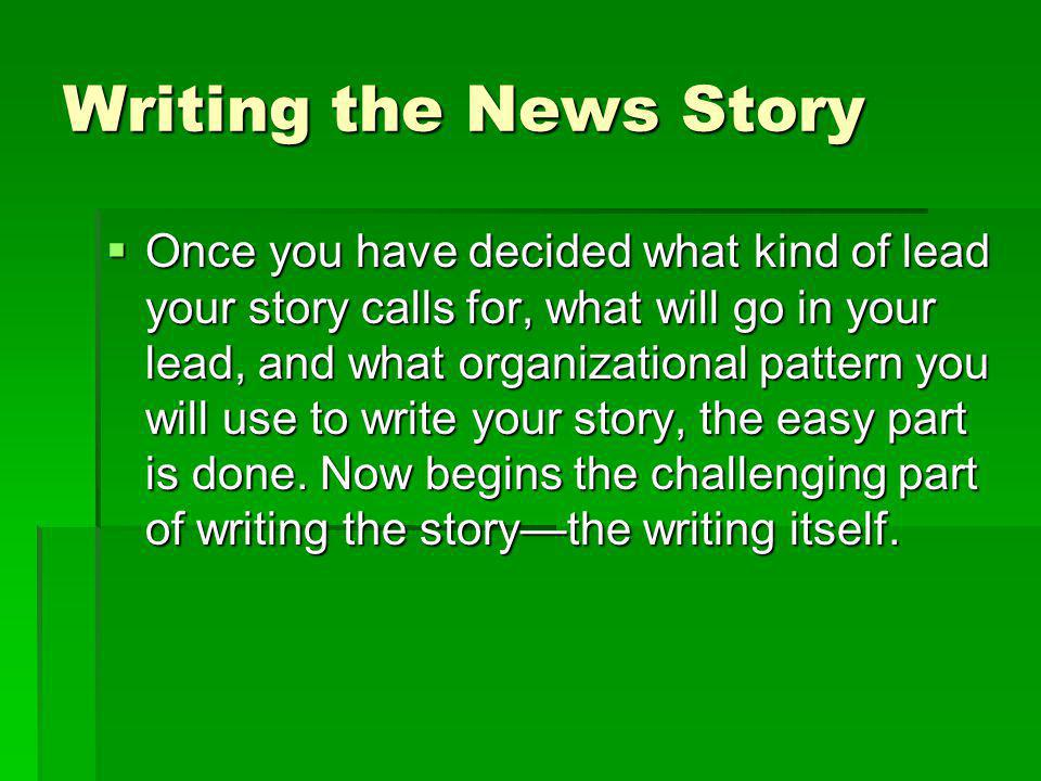 Writing the News Story