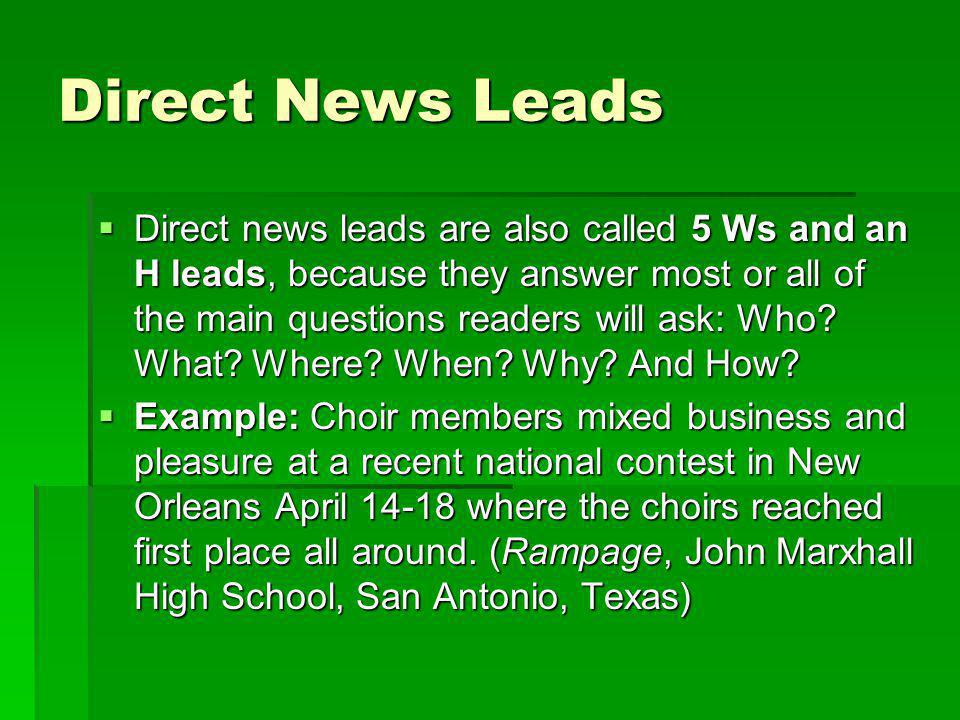 Direct News Leads