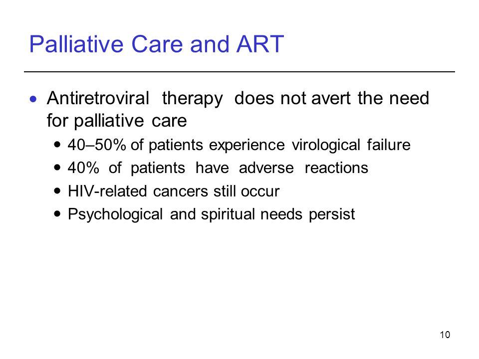 Palliative Care and ART