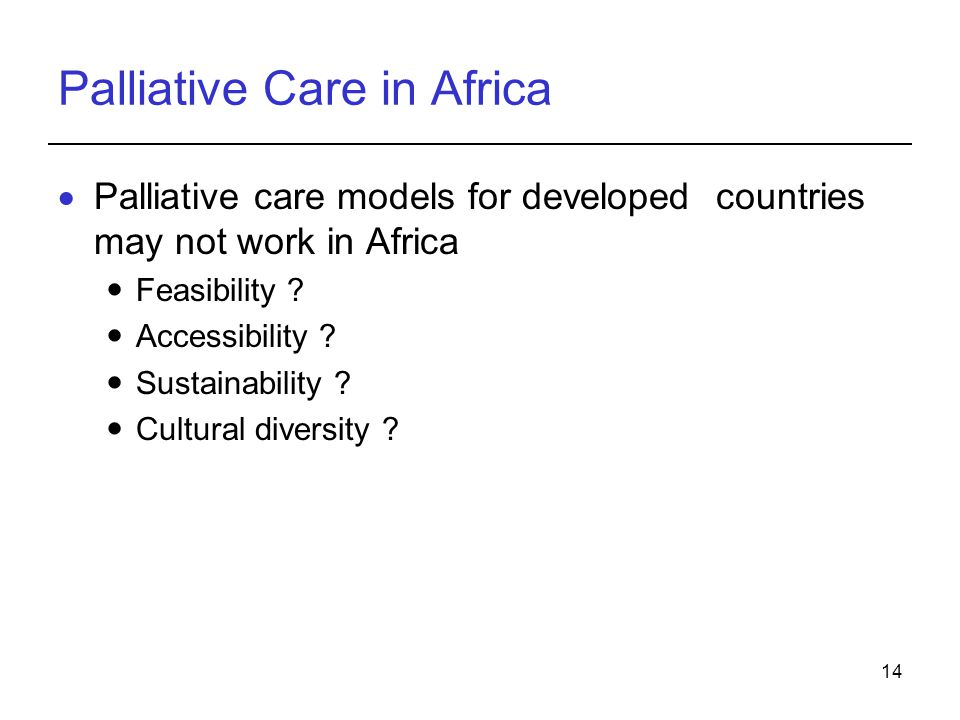 Palliative Care in Africa