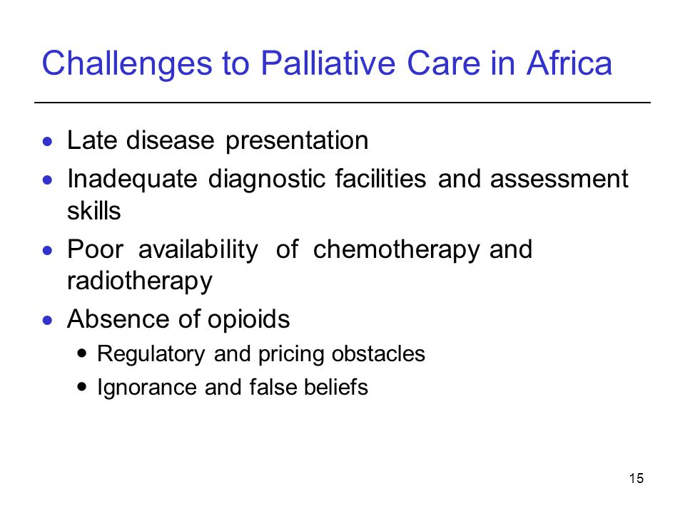 Challenges to Palliative Care in Africa