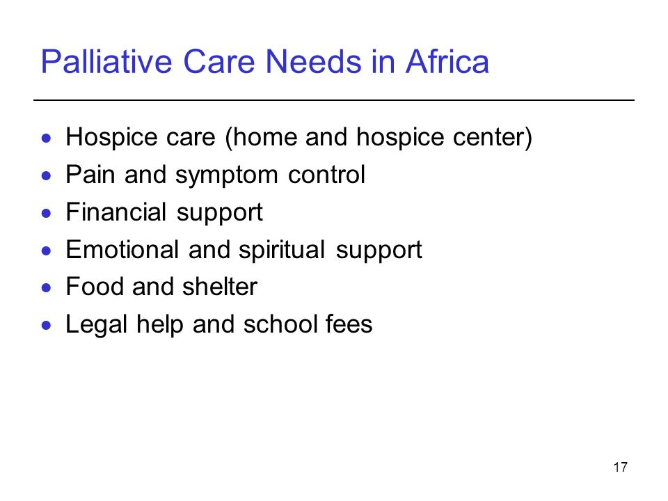 Palliative Care Needs in Africa