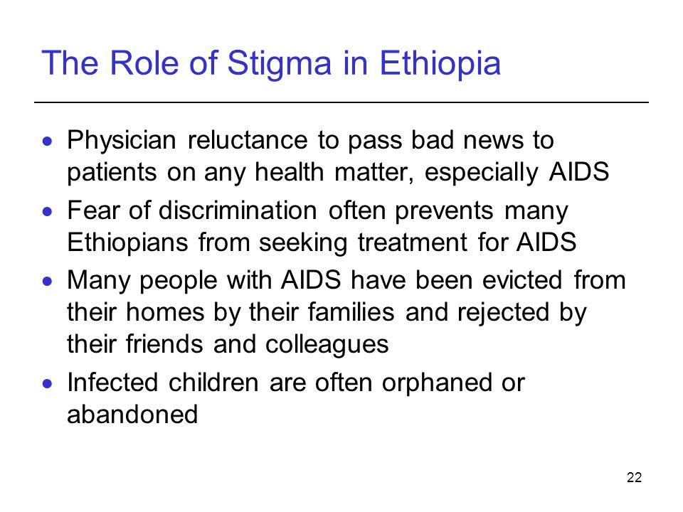 The Role of Stigma in Ethiopia