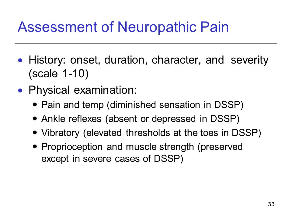 Assessment of Neuropathic Pain