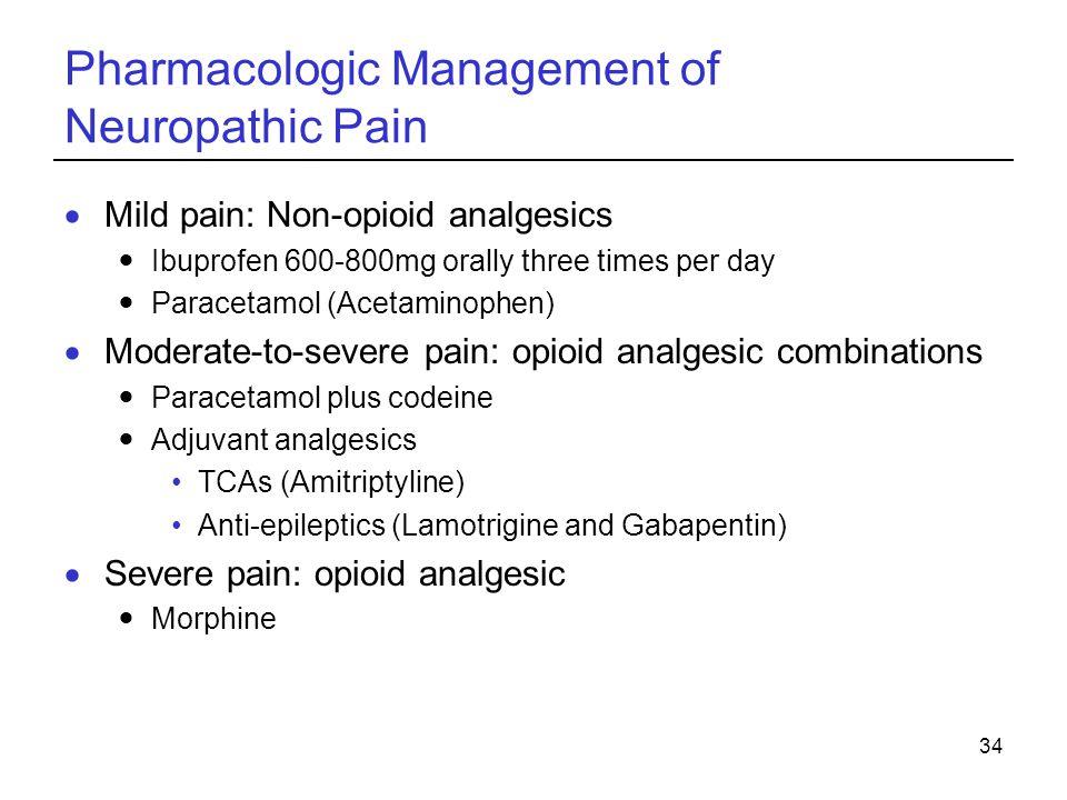 Pharmacologic Management of Neuropathic Pain