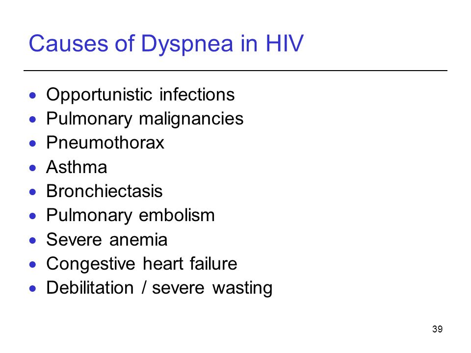 Causes of Dyspnea in HIV
