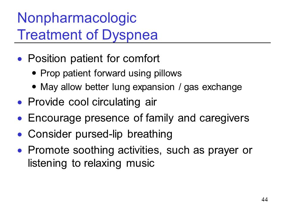 Nonpharmacologic Treatment of Dyspnea