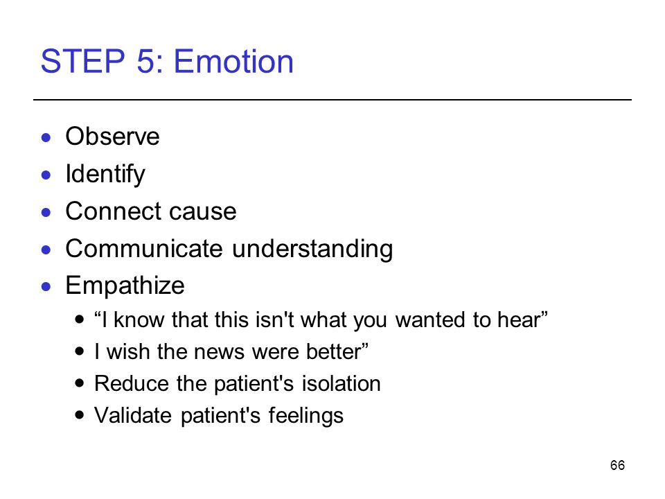 STEP 5: Emotion Observe Identify Connect cause