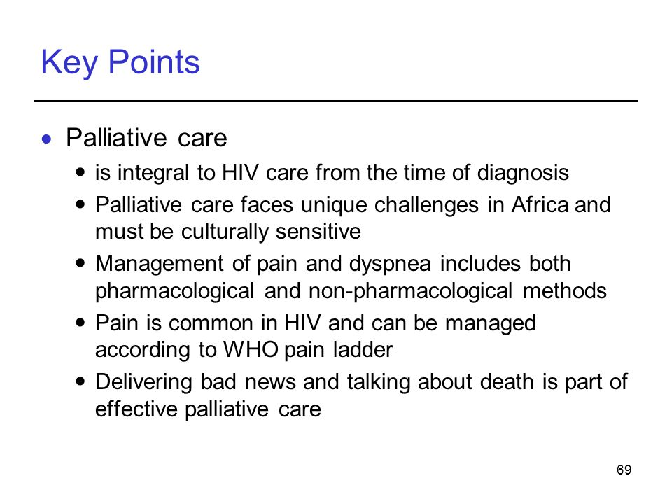 Key Points Palliative care