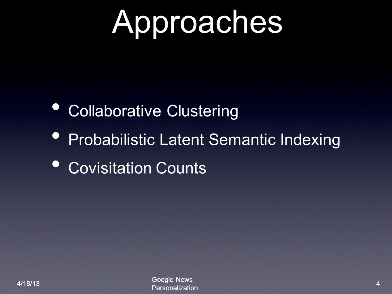 Approaches Collaborative Clustering
