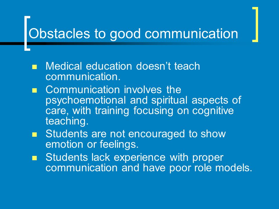 Obstacles to good communication