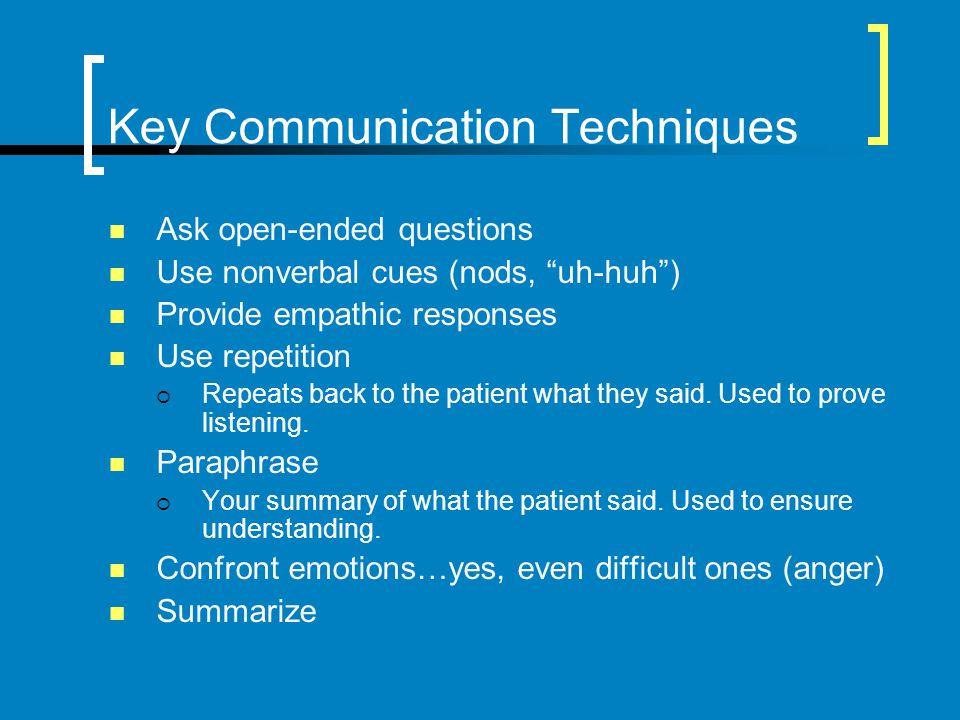 Key Communication Techniques