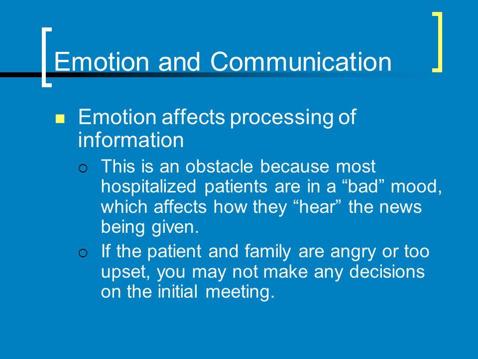 Emotion and Communication