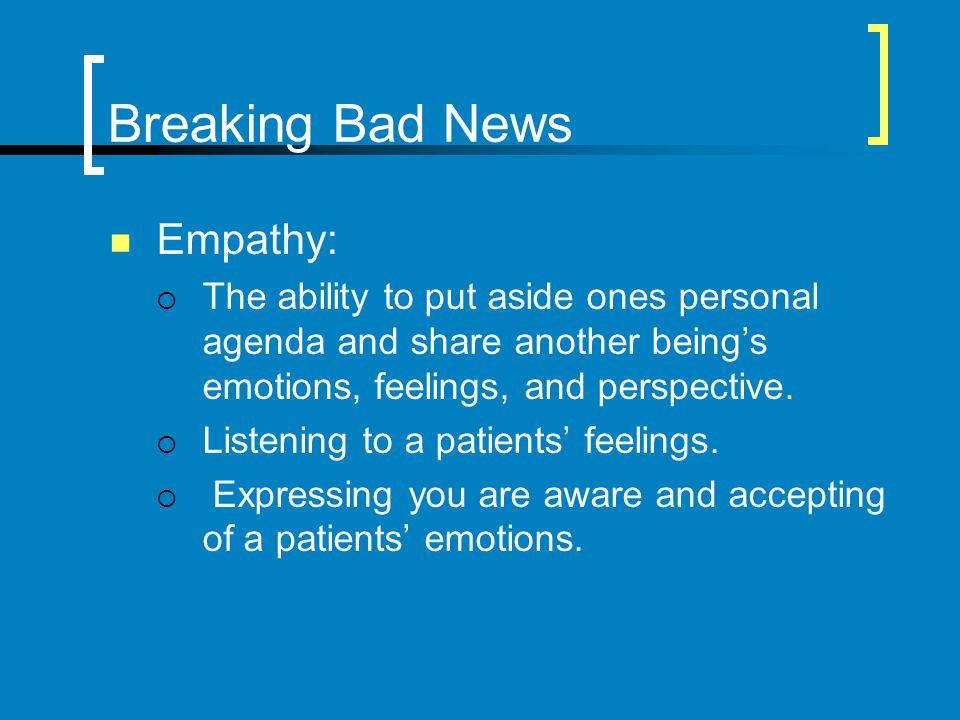Breaking Bad News Empathy: