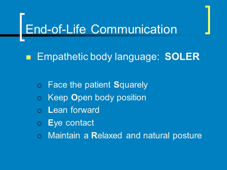 End-of-Life Communication