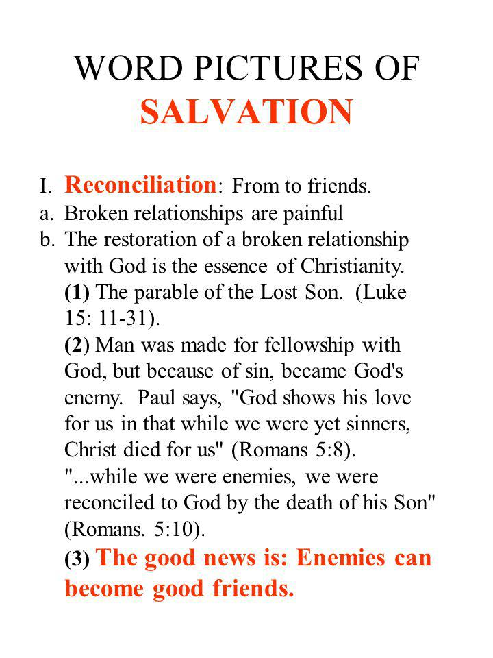 WORD PICTURES OF SALVATION