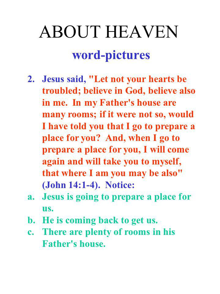 ABOUT HEAVEN word-pictures