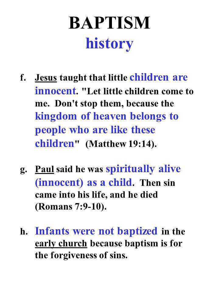 BAPTISM history