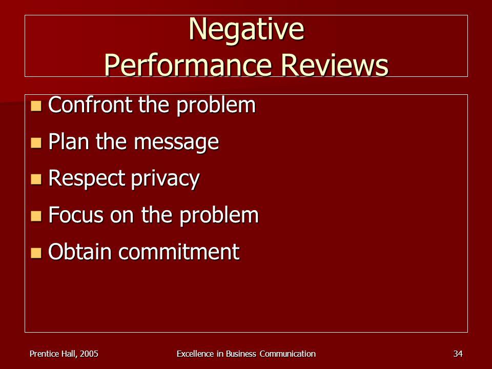 Negative Performance Reviews