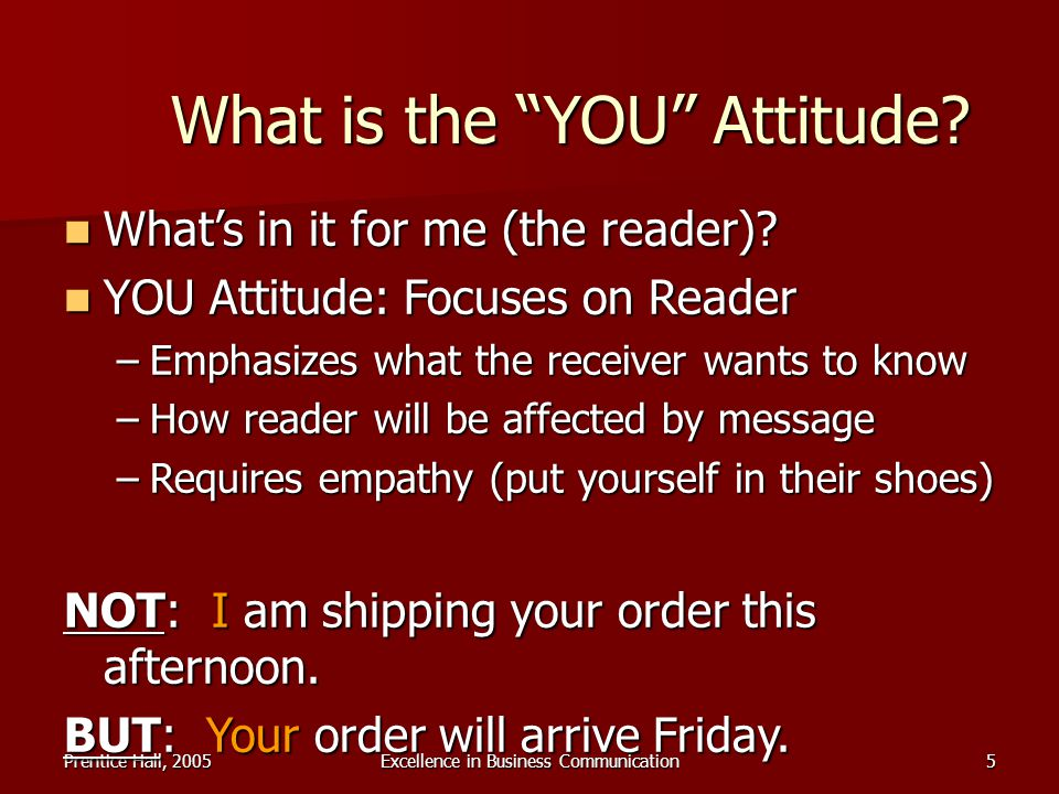 What is the YOU Attitude