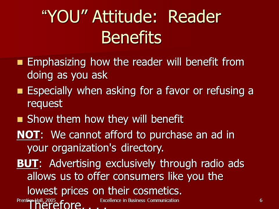 YOU Attitude: Reader Benefits