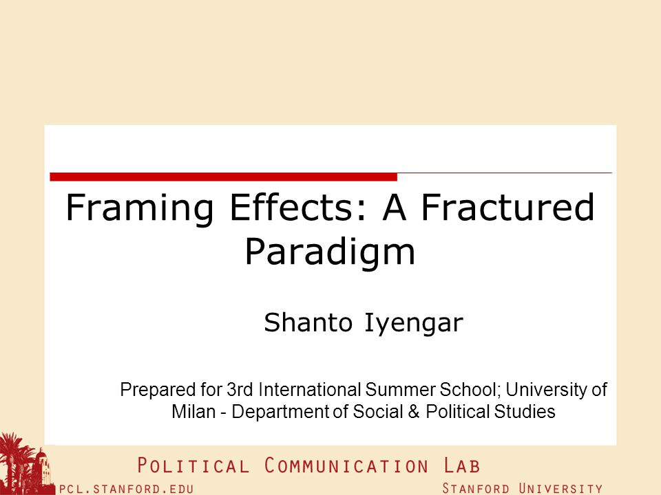 Framing Effects: A Fractured Paradigm
