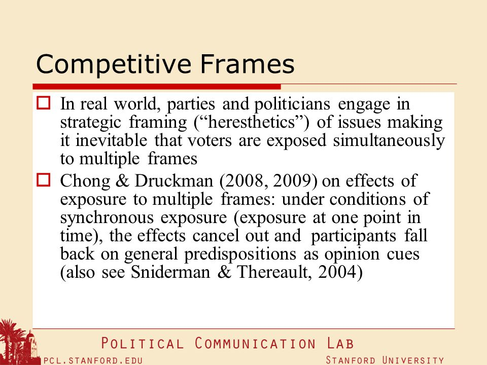 Competitive Frames